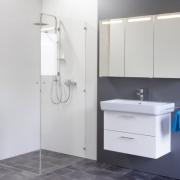 Spiegelschrank Mystic LED Square I Dreitürig mit Farbauswahl