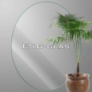 ovales durchsichtig Sicherheitsglas ESG