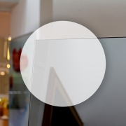Rahmenloser Spiegel - Grau - Rund