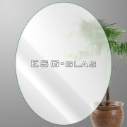 ovales Satino-Sicherheitsglas ESG