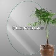 ovales durchsichtig Floatglas