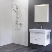 Spiegelschrank Mystic LED Square I Eintürig mit Farbauswahl
