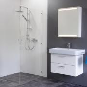 Spiegelschrank Mystic LED Square II Eintürig mit Farbauswahl