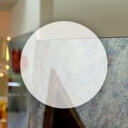 Rahmenloser Spiegel - Antik - Rund