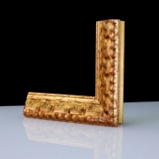 Rustico Gold Echtholz - Bilderrahmen