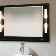 Bastone Duo II auf Rückwand mit Farbauswahl, Ablage und Leuchte