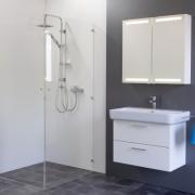 Spiegelschrank Mystic LED Square II Zweitürig mit Farbauswahl