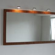 .Colorino Badspiegel mit Furnier und Lampenauswahl
