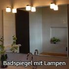 Badspiegel mit Lampen