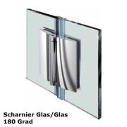 Glas - Glas Scharnier 180 Grad nach außen öffnend
