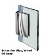 Glas - Wand Scharnier 90 Grad nach aussen öffnend