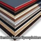 Beschichtete Spanplatten