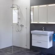 Spiegelschrank Mystic LED Square II Dreitürig mit Farbauswahl