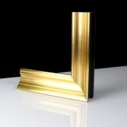 Elegante Gold Echtholz - Bilderrahmen