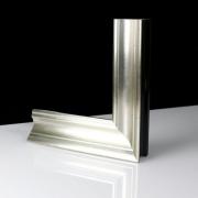 Elegante Silber Echtholz - Bilderrahmen