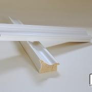 Elegante Weiß Musterleiste