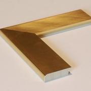 Metallo Gold Echtholz-Bilderrahmen