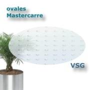 ovales Sicherheits-Strukturglas Mastercarre VSG