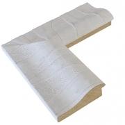 Zebrana Grande Weiß Echtholz - Bilderrahmen