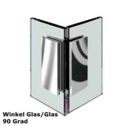 Glas - Glas Verbinder 90 Grad