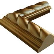Zopf Gold Echtholz - Bilderrahmen
