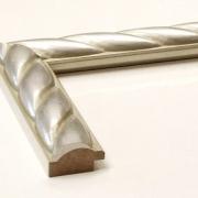 Zopf Silber Echtholz - Bilderrahmen
