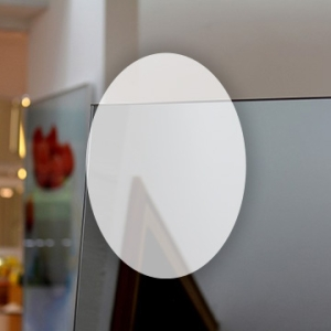 Rahmenloser Spiegel - Grau - Oval