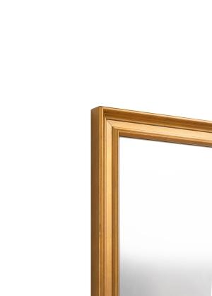 Turin Gold Echtholz-Wandspiegel