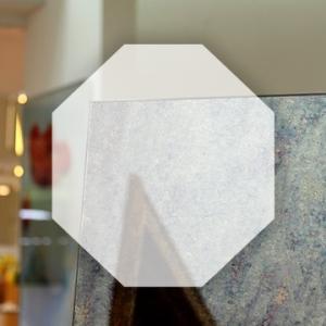 Rahmenloser Spiegel - Antik - Achteck