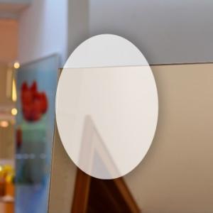 Rahmenloser Spiegel - Bronze - Oval