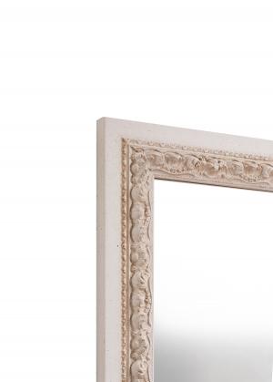 Formoso Weiß Echtholz-Wandspiegel