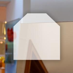 Rahmenloser Spiegel - Bronze - Eckabschnitt x 2