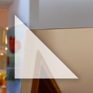 Rahmenloser Spiegel - Bronze - Dreieck