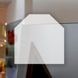 Rahmenloser Spiegel - Grau - Eckabschnitt x 2