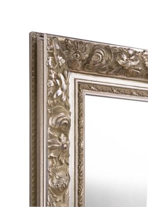 Bruss Alt-Silber Echtholz-Wandspiegel