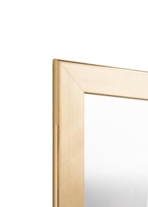 Metallo Gold Echtholz-Wandspiegel
