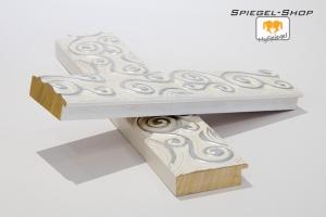 Arte Weiß & Silber Musterleiste