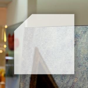 Rahmenloser Spiegel - Antik - Eckabschnitt