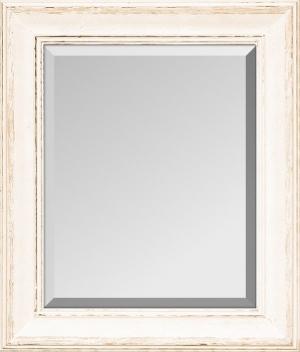 Agreste Alt - Weiß Echtholz Wandspiegel