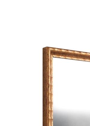 Nino Gold Echtholz-Wandspiegel
