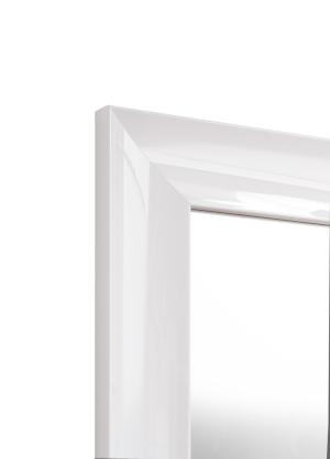 Piano Weiß Echtholz-Wandspiegel