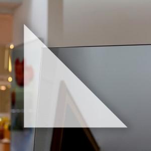 Rahmenloser Spiegel - Grau - Dreieck