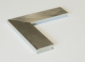 Metallo Silber Echtholz-Bilderrahmen