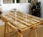 Glasplatte 6mm 120x80 cm für Europalettenmöbel