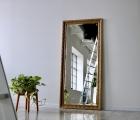 Aka Alt-Gold Echtholz-Wandspiegel