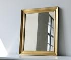 Elegante Gold Echtholz-Wandspiegel