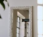 Arte Weiß-Silber Echtholz-Wandspiegel