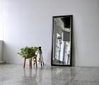Bene Schwarz Echtholz-Wandspiegel