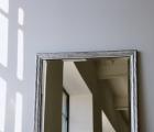 Aluna Silber Echtholz-Wandspiegel