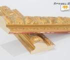Bruss Alt-Gold Echtholz-Wandspiegel